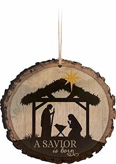A Savior is Born Nativity Scene Wood Tree Bark 4 inch Christmas Tree Ornament $3.44 Made of Wood MDF Measures Approx. 3.5 x 3.75 inches Designed and/or manufactured in USA Bring peace, joy and love to your home this Christmas season with this unique decoration
