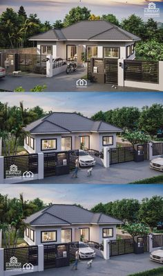 One Storey Duplex House Plan with 2 Bedrooms - Duplex house plans -