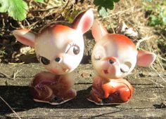 Deer Salt and Pepper Shakers with Original by KarasKollectibles