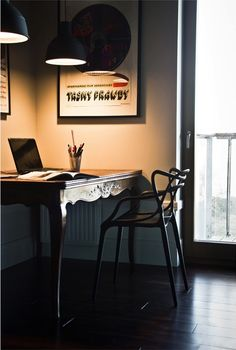 home inPoland with Kartell Masters chair - gorgeous!