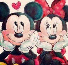 Mickey und Minnie (Mickey Mouse) (c) Dis … - Disney Liebe Mickey Mouse Drawings, Mickey Mouse Wallpaper, Cute Disney Wallpaper, Disney Drawings, Minnie Mouse Drawing, Drawing Disney, Mickey Drawing, Trendy Wallpaper, Mickey Minnie Mouse