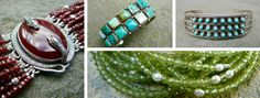 Handcrafted gemstone bracelets, earrings and necklaces, plus vintage Native American turquoise, Mexican Taxco silver and Italian cuff and link bracelets. TeeceTorre on Etsy or teecetorre.com/