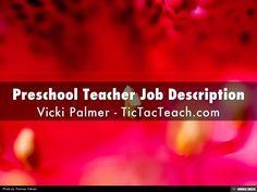What Does A Preschool TeacherS Job Really Entail How Can You Fit