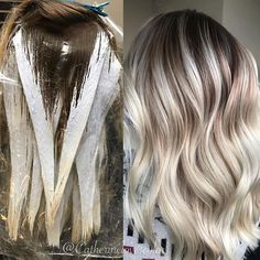 Friday Night Painting Party - All About Hairstyles White Ombre Hair, Blond Ombre, Ombre Hair Color, Diy Hair Dye, Dyed Hair, Diy Hairstyles, Pretty Hairstyles, Diy Haarfärbemittel, Bilage Hair
