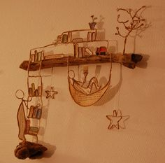 Art Fil, Driftwood Sculpture, Wire Sculptures, Deco Nature, Stick Art, Paper People, Stick Figures, Small Art, Wire Crafts