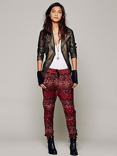 Free People Speckled Slouch Pant. $99.95. #fashion #women #pants