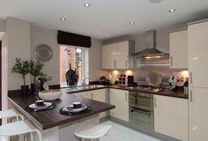 david wilson homes kitchens Open Plan Kitchen Dining Living, Kitchen Diner Extension, Open Plan Kitchen Diner, Living Room Kitchen, Cute Kitchen, New Kitchen, Kitchen Decor, David Wilson Homes, Classy Living Room