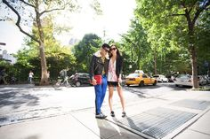 Rumi (Fashion Toast) in Pierre Balmain — seen here with BryanBoy at a photo shoot in Gramercy Park