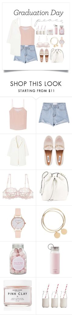 """""""Peace Out"""" by thedailywear ❤ liked on Polyvore featuring Tanya Taylor, MANGO, GURU, Lise Charmel, Luana, Olivia Burton, Kate Spade, Herbivore, Dress My Cupcake and WALL"""