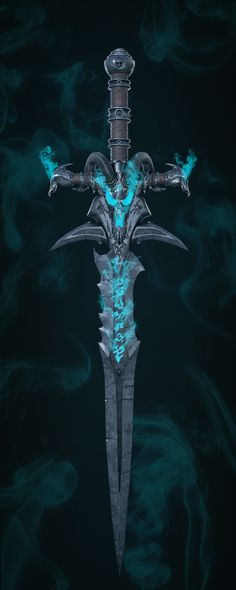 World Of Warcraft, Warcraft Art, Anime Weapons, Fantasy Weapons, Fantasy Warrior, Horde Tattoo, Dark Fantasy, Fantasy Art, Arthas Menethil