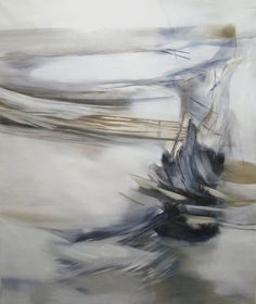 Nuala Clarke - white one   From a unique collection of paintings at http://www.1stdibs.com/art/paintings/