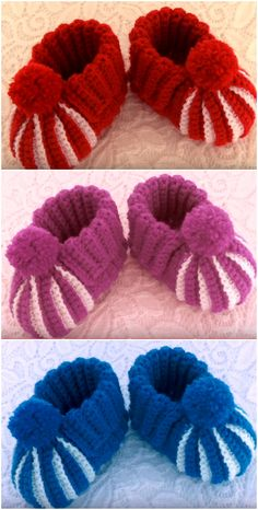 Baby Knitting Patterns I.Com 08 - 2019 - Knit Diy - Diy Crafts Easy Baby Knitting Patterns, Baby Cardigan Knitting Pattern Free, Baby Booties Free Pattern, Crochet Baby Boots, Knit Baby Booties, Booties Crochet, Knit Baby Shoes, Diy Crafts Crochet, Diy Crafts Knitting