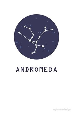 Andromeda Constellation Throw Pillow by AglomeraDesign - Cover x with pillow insert - Indoor Andromeda Constellation, Andromeda Galaxy, Constellation Tattoos, Harry Potter Characters Names, Horoscope Tattoos, Ursa Major, Star Sky, Skin Case, Greek Mythology