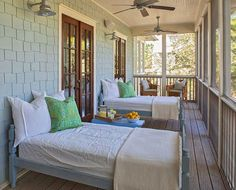A place prepared for a quiet reading, relaxing or a nap! House of Turquoise: Spartina by the Sea
