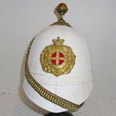 Victorian-WW-I-Era-OR-Australia-NSW-Artillery-Spike-Helmet-No-Shako-Officer-Hat Pith Helmet, Helmets, Christmas Bulbs, British, Victorian, Military, Australia, The Originals, Hats