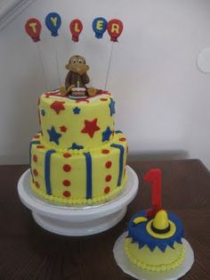 Curious George Cake @Jasna Dzinic Hill @Jeannie Choi Hill @Glenda Thornton Stidham