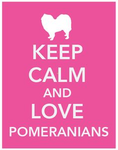 Keep Calm and Love Pomeranians / 8x10 Art Print / by LegacyPrints
