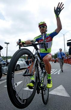Tour of California 2015 Peter Sagan wheelies in celebration of his overall win (Getty Images Sport)