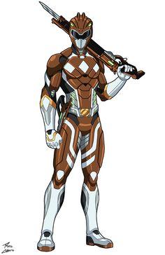 Brown Ranger Miles Baker commission by phil-cho on DeviantArt Power Rangers Comic, New Power Rangers, Pawer Rangers, Marvel Dc, Marvel Heroes, Character Costumes, Character Art, Character Design, Joe Manganiello Deathstroke