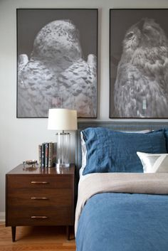 custom upholstery on a west elm headboard via @Apartment Therapy