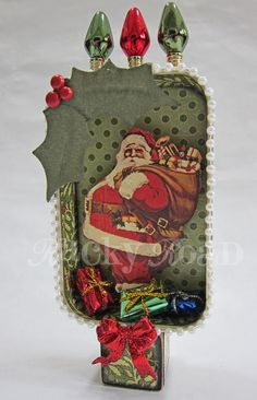 Altered Altoid Tin Santa