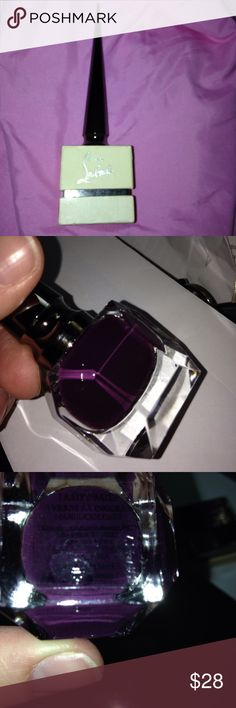 Christian Louboutin Nailpolish Lady Page Are use this color three times on my toes so it's actually quite full it's a very very dark purple that almost looks black depending on the light. The color is lady page and it is in the original box. Taking offers Christian Louboutin Makeup