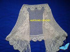 Marisabel crochet: Esta pequeña estola sencilla, la he tejido hilo de...