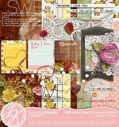 A little freebie from an older blog of the designs of Juliana Kneipp... so much so I'm also pinning the close ups of this kit.