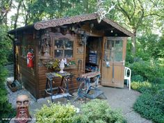 Karel, Workshop/Studio from the garden of our recreation-home in Afferden Holland #shedoftheyear @unclewilco