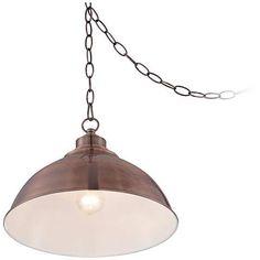 "Southton Copper Dome 13 1/4"" Wide Pendant Light - #3F581 | www.lampsplus.com"
