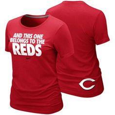 Nike Cincinnati Reds Ladies This One Belongs to the Reds Local Premium T-Shirt - Red