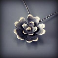 Sterling Silver Blossom Necklace by Lisa Hopkins Design