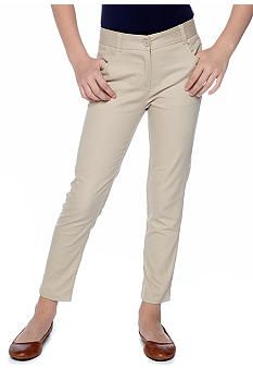 Izod Uniform Ankle Biter Pants Girls 7-16
