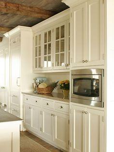 Cream Kitchen Cabinets - Country - kitchen - Shelter Interiors LLC