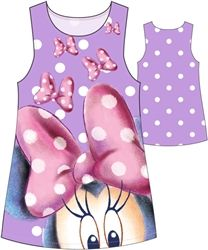 nice Youth Girls Minnie Floating Bows Sublimated Tank Dress, Purple