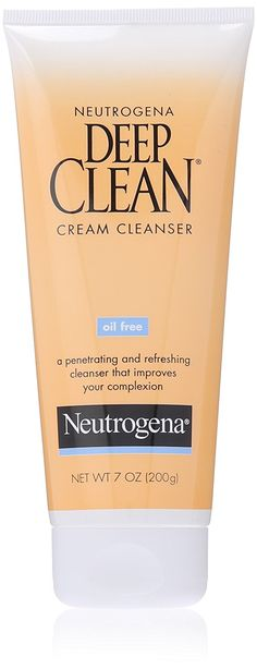 Neutrogena Oil-Free Deep Clean Cream Cleanser, 7 Ounce *** See this great image  : Cleansers