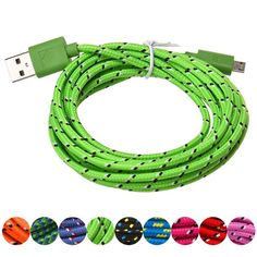 High Quality 2M Hemp Rope Micro USB Charger Sync Data Cable Cord for Cell Phone High Quality Dropship SZ0213 #Affiliate