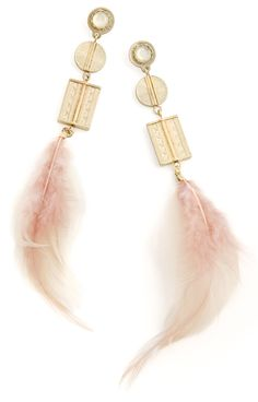 delicate feathers earrings - perfect for a date night