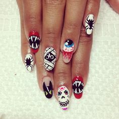 halloween by lollipopnails  #nail #nails #nailart