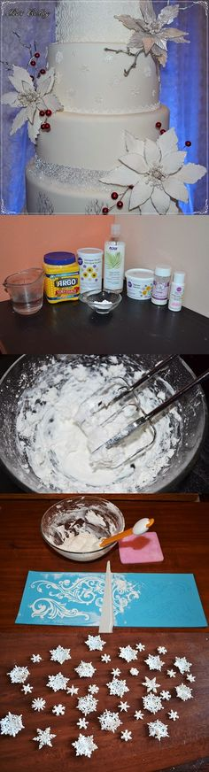 Lea's Cooking: Homemade Sugar Lace Recipe from Scratch #cake #cakedecor #cakelace