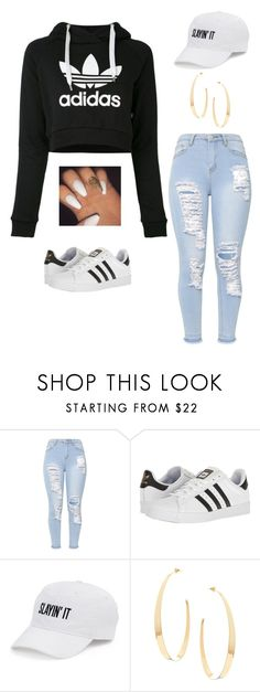 """Slayin it"" by howlingtrends on Polyvore featuring adidas, SO and Lana"