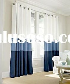Color block curtains would add some pattern without looking too busy.