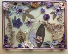 My work: 3D flowers in glass box