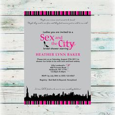 Printable Sex and the City Bridal Shower by BeyondDigital on Etsy, $20.00