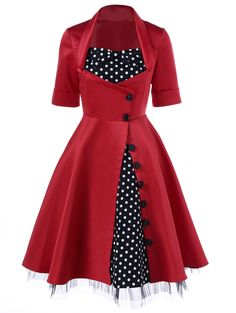 SHARE & Get it FREE | Polka Dot Lace Panel Swing DressFor Fashion Lovers only:80,000+ Items • New Arrivals Daily • Affordable Casual to Chic for Every Occasion Join Sammydress: Get YOUR $50 NOW!