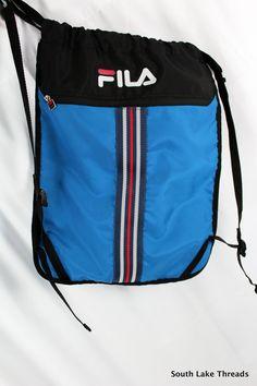 fe28c8f10900 vtg 90s fila gym bag blue   black   red - vintage - nike - reebok - adidas  - fila sport - grant hill - jerry stackhouse - mashburn