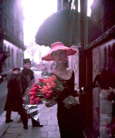 20th-century-man: Suzy Parker; photo for Elle by Georges Dambier; Paris, 1953.