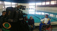 Atleta paralímpico Luis Carlos Cardoso durante entrevista à TV Bandeirantes. #Rio2016