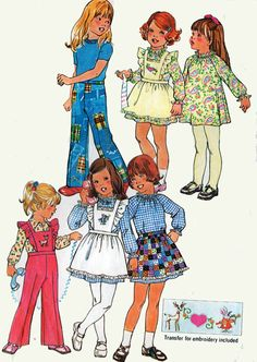 1970s Vintage Sewing Pattern Simplicity 7198 Girls by sandritocat, $8.00