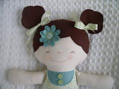 Mon amie Sarah Jane--une poupée de chiffon à la main